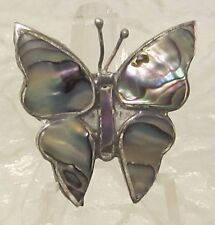 ALPACA MEXICO ABALONE STONES BUTTERFLY BROOCH FASHION 6125