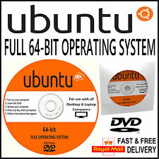 UBUNTU FULL 64 BIT OPERATING SYSTEM 2017 EDITION FOR DESKTOP & LAPTOP COMPUTERS