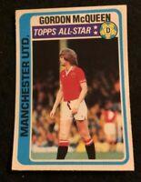 TOPPS 1979 FOOTBALL CARD #340 MANCHESTER UNITED GORDON MC QUEEN   ALL-STAR
