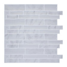 Peel & Stick 3D Self Adhesive Mosaic Wall Tile Sticker - Light Grey Marble
