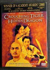 Crouching Tiger Hidden Dragon Dvd Ang Lee Chow Yun Fat Zhang Ziyi Michelle Yeoh