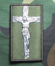 JESUS CHRIST CROSS CRUSADER US USA MILITARY TACTICAL FOREST HOOK MORALE PATCH
