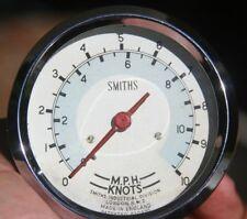 """Vintage Smiths Marine Boat Speed MPH & Knots Speedometer 3 1/8"""" Gauge - 820970"""
