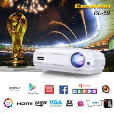 6000LM 1080P FHD LED Proyector WiFi Android6.0 8GB ATV AV VGA HDMI Multimedia 3D
