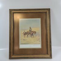 "INCREDIBLE PENCIL SIGNED PRINT BY OLAF WIEGHORST TITLED ""DRY COUNTRY"" Nice Frame"