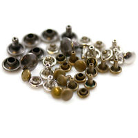 SINGLE & DOUBLE CAP RIVETS *4 COLOURS & 8 SIZES* LEATHER CRAFT STUD REPAIRS