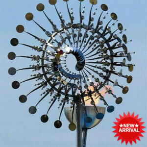 Magical Garden Decoration Metal Windmill Kinetic Metal Wind Spinners NEW AU
