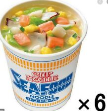 Nissin Japanese Cup Ramen Noodle Soup Seafood(Pack of 6), Free Shipping !!
