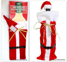 2 Santa Wine Bottle Christmas Holiday Gift Bags NWT