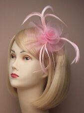 rose pâle Tourbillon serre tête Fascinator pour Ascot, Courses, Mariages,