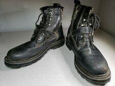 Harley Davidson Motorcycle Boots Leather Black Size 11 USA 44 EUR Heavy Duty GUC