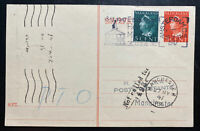 1947 Amsterdam Netherlands First Flight KLM PC Cover To Manchester England