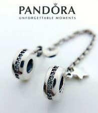 Authentic Pandora S925 ALE Personal Galaxy Moon & Star Safety Chain 797512