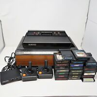 Atari 2600 Bundle 2 Joysticks 23 Games Game Center Storage All Tested/Working
