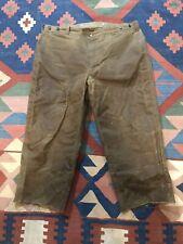 FILSON OIL FINISH TIN CLOTH DOUBLE KNEE PANTS 44 X 27 LOGGER GEAR