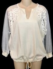 Chloe knit Top Lace Sleeves Knit Body And Cuffs NWT $995Size Sm