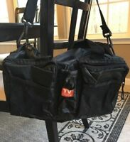 Vintage TV Guide Small Black Duffle Gym Bag Travel Tote Zipper Pocket Distressed