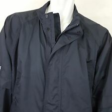 Mizuno Nylon Windbreaker Jacket Black Baseball Golf  Full Zip Outdoors