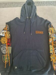 10deep CORONOR stitched Hoodie Size L PRE OWNED Champion Billionaire Boys Stussy