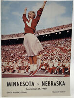 Nebraska Vs Minnesota Football Program Sept. 24 1960 Vintage Original 20-810A