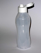Brand New Tupperware Water Bottle with Flip Top Seal Rare White Large 1L