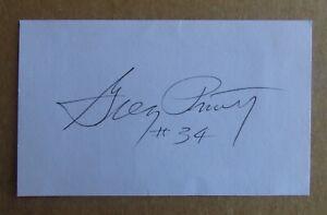 GREG PRUITT SIGNED AUTOGRAPH 3X5 INDEX CARD NFL SUPER BOWL CHAMPION XVIII RAIDER