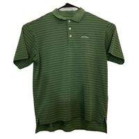 Adidas Climacool Polo Golf Shirt Mens Medium The Ledges Green Striped