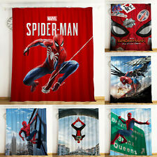 Spider-Man Blackout Curtain Window Drapes Living Room Bedroom Home Decor 2 Panel