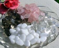 Quartz Collection - Rose, Clear, Snow &  Smoky - 16 Crystal Tumblestones