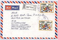 CA3 1983 LEBANON Beirut *Hamra* Registered Airmail Cover MISSIONARY VEHICLES