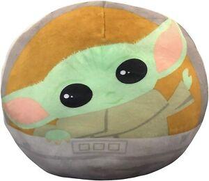 "The Mandalorian The Child Baby Yoda  Pillow 11""  Baby Yoda in Carriage Star Wars"