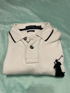 Polo Ralph Lauren Rugby T Shirt White Big Pony (Size Small)