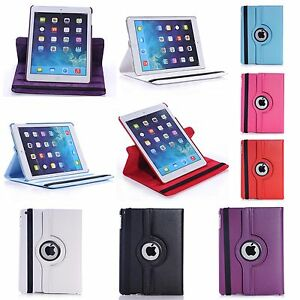 CASE FOR APPLE IPAD AIR IN VARIOUS COLOUR PU LEATHER 360 DEGREE ROTATING COVER