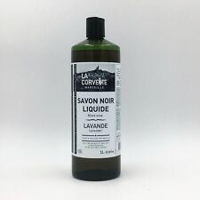 Savon Noir Liquide BIO Local Lavande entretien lessive 1 Litre LA CORVETTE /EBDG