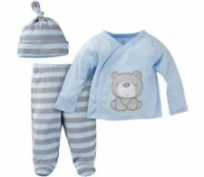 GERBER BABY BOY Newborn Take-Me-Home 3-Piece Layette Gift Set Baby Shower - BEAR