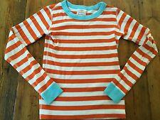 HANNA ANDERSSON Kids Orange & Blue Striped PJ Long John Top- Sz 10 140- Ret $20