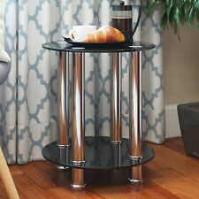 Aster Glass Accent End Side Table Living Room Coffee Sofa Table Nightstand