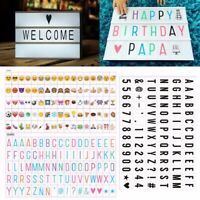 A4 Cinematic Light Up DIY Emoji Letter Box Sign Message Board Party Wedding DIY