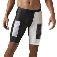 [BK1128] New Men's REEBOK Crossfit Cross Training Compression Solid Shorts