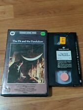 THE PIT AND THE PENDULUM VHS WARNER CLAMSHELL HORROR VINCENT PRICE