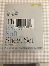Croft And Barrow The Extra Soft Sheet Set King