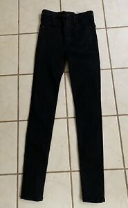 ABERCROMBIE & FITCH NEW! Black SIMONE HIGH RISE SUPER SKINNY Jeans Sz 24/00