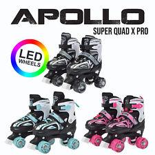 Apollo Super Quad X Pro, LED Rollschuhe für Kinder und Jugendliche