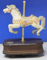 Carousel Collection 2nd Edition White Porcelain Carousel Horse Music Box