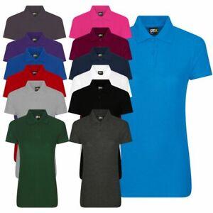 Ladies Classic Polo Shirt Pique 220gsm Plain T Casual Workwear Poloshirt XS-4XL
