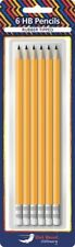 6 HB Pencils Rubber Tipped