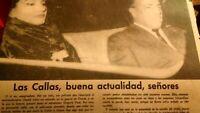 Maria Callas. Recorte Aňos 50.60