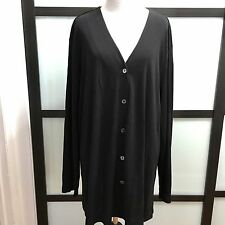 Venezia Women's Sz 22 / 24 V Neck Cardigan Sweater Work Casual Button Up Black
