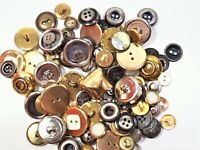 Vintage Metal Buttons, Garment Buttons x 100 pieces, Mixed Button Lot