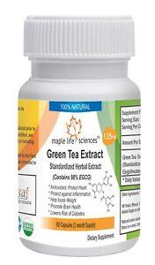 EGCG 98% pure capsules Epigallocatechin Gallate Green Tea Extract No fillers